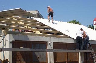 Sandwich trapezblech dach